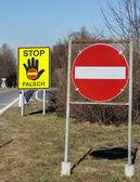 Wrong-way driver — Stock Photo