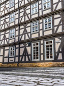 Facade of a timber-framed house in Melsungen, Hessen — Stok fotoğraf