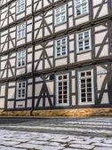 Facade of a timber-framed house in Melsungen, Hessen — 图库照片