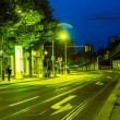 Stock Photo: Bus stop in night