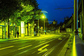 Bus stop in the night — Stock Photo