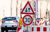 Traffic sign in berlin — Stock Photo