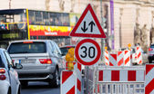 Traffic sign in berlin — Foto Stock