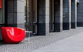 Sillón rojo — Foto de Stock