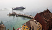 Port in meersburg on lake constance — Stock Photo