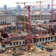 Look at the construction site of the castle in Berlin Center — Stock Photo #45381003