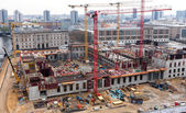 Look at the construction site of the castle in Berlin Center — Stock Photo