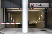 Entrance to an underground parking — Stock Photo