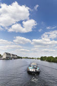 Motor tug at the Berlin Havel — Stock Photo