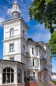 House facade in resort of Heringsdorf — Foto Stock