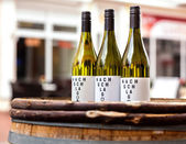 Three bottles of wine — Stock Photo