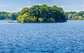 Small island within the Berlin waters — Stock Photo