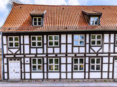 Half-timbered house in Greifswald — Stock Photo