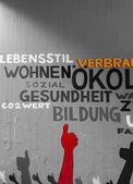 Words as a graffiti — Stock Photo