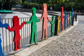 Figures on a children's playground in Germany — Stockfoto
