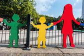 Figuras en un parque infantil en Alemania — Foto de Stock