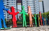 Figures on a children's playground in Germany — Stock Photo