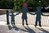Figure su giochi un parco in germania — Foto Stock