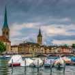 Stockfoto: Zurich center on Limmat river