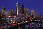 Seattle night lights — Stock Photo