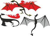 Symbol dragon — Stock Vector