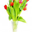 Tulips bouquet isolated on white — Stock Photo #27586155