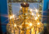 Svíčky v kostele — Stock fotografie