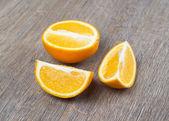 Orange fruits on the table — Stock Photo