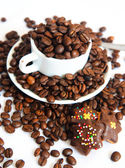 Coffeeand cookies — Stock Photo