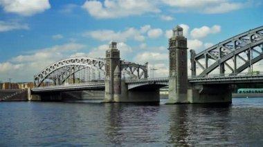 Bolsheokhtinsky bridge — Stock Video
