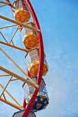 Ferris wheel on the blue sky — Stock Photo