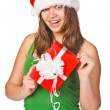 Stock Photo: Attractive woman with nice gift