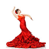 Young woman dancing flamenco — Stock Photo