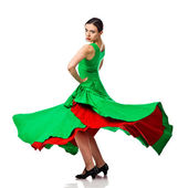 Woman gypsy flamenco dancer — Stock Photo
