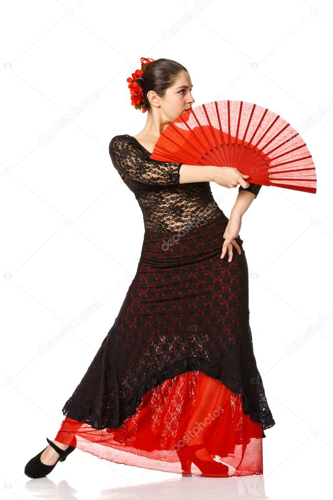 Woman gypsy flamenco dancer stock photo andy pix 18297085 - Dessin danseuse de flamenco ...