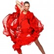 Beautiful Latino dancer in action — Stock Photo