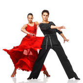 Elegance Latino dancers in action — Stock Photo