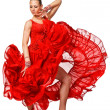 Stock Photo: Sensual Latino dancergirl in action. Isolated
