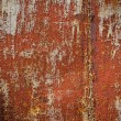 Metal texture with old paint and rust. — Stock Photo