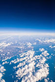 Clouds. top view from the window of an airplane flying in the cl — Stock Photo