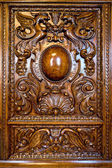 Ornament on the door of an old dresser — Stock Photo
