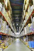 Indoor warehouse — Foto Stock