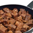 Beef stew in pan — Stock Photo