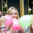 Young friends having a party — Stock Photo