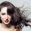 Photo of beautiful woman with magnificent hair — Stok fotoğraf