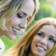 Young Adult Sisters at the park — Stock Photo #31641719