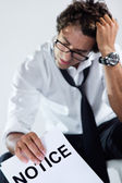 Executive receiving bad news — Stock Photo