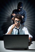 Informatics spy concept — Stock Photo