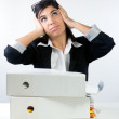Overwhelmed Office Worker — Stockfoto