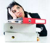 Überwältigt Büroangestellter — Stockfoto